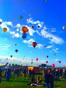 Balloon Festival Near Harley Dealership