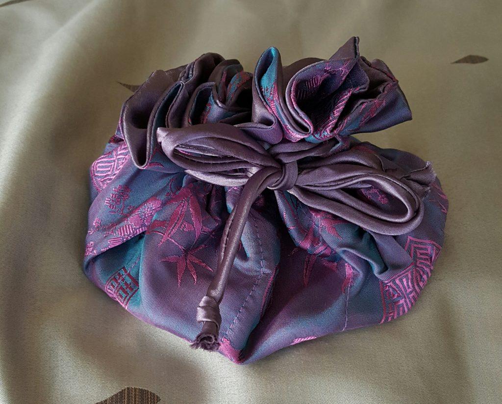 Silk Jacquard Jewelry Pouch