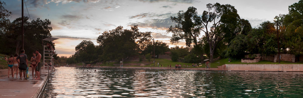 Barton Springs at Sunset